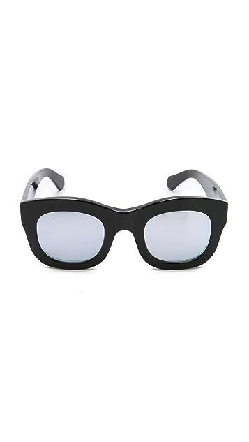 Illesteva Hamilton Mirrored Sunglasses