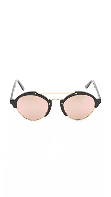 Illesteva Milan II Mirrored Sunglasses