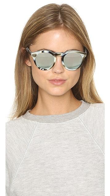 Illesteva Leonard II Mirrored Sunglasses