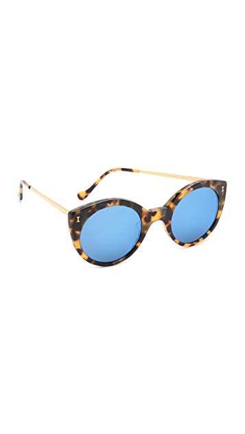 Illesteva Palm Beach Mirrored Sunglasses