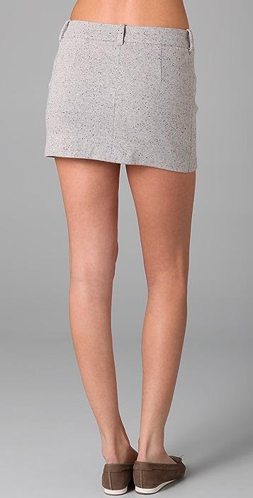 Imitation Nubby Skirt