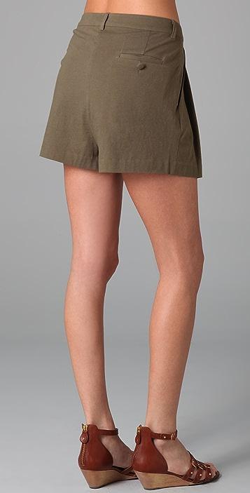 Imitation Pleated Shorts