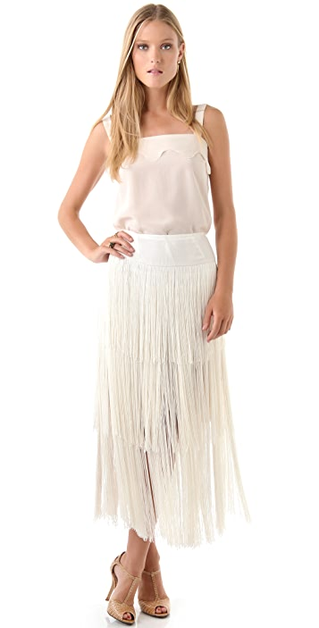 Imitation Gifford Fringe Skirt