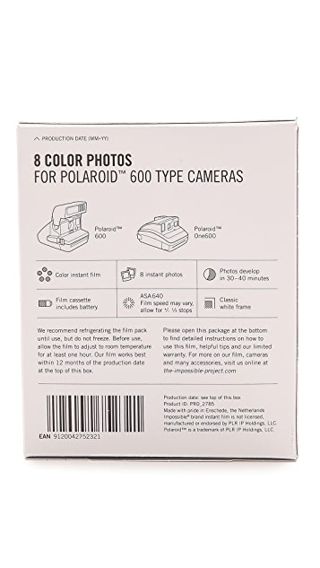 Impossible 600-Type Camera Color Instant Film