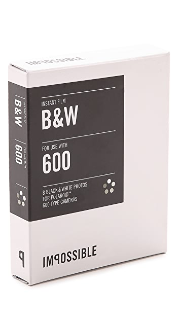 Impossible 600-Type Camera Black & White Instant Film