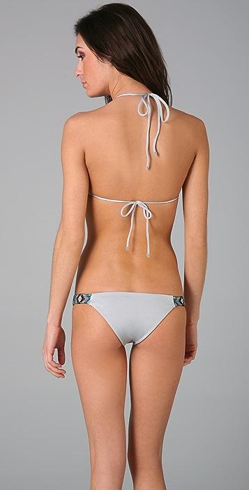 Indah Raven Frill Triangle Bikini Top