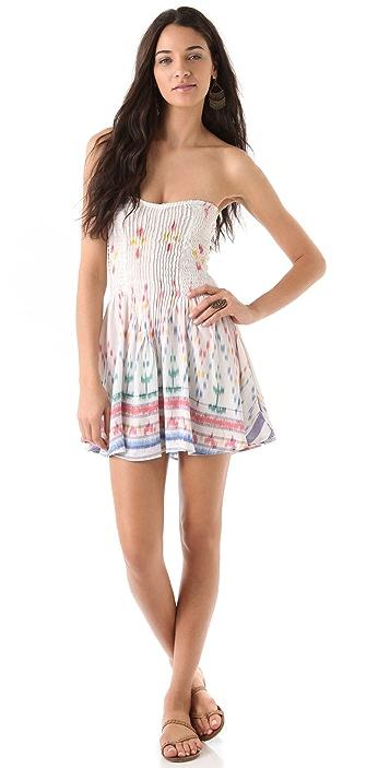 844f6f8b472e Indah Wren Smocked Strapless Dress | SHOPBOP