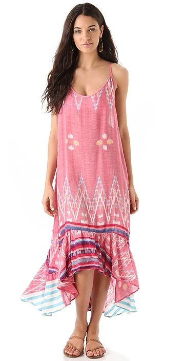 Indah Beyti Long Ruffle Dress