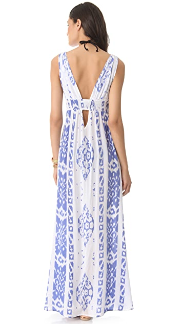 Indah Anjeli Empire Cover Up Maxi Dress