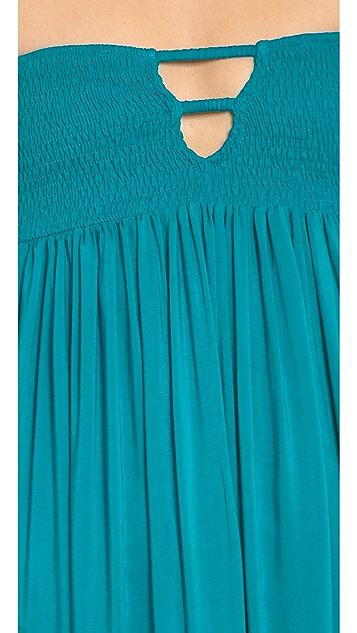 Indah Flamingo Bandeau Maxi Dress