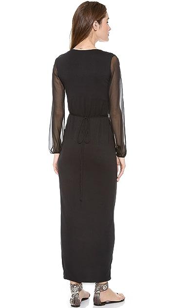 Indah Wrap Maxi Dress