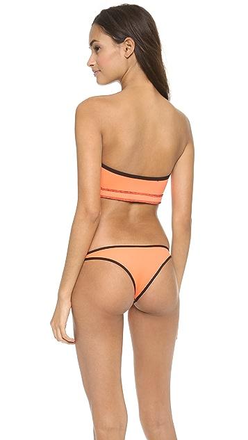 Indah Kazi Zip Front Bikini Top