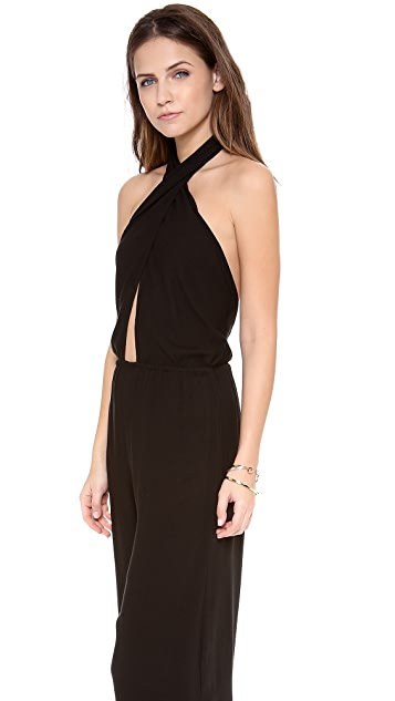 Indah Cross Front Halter Jumpsuit