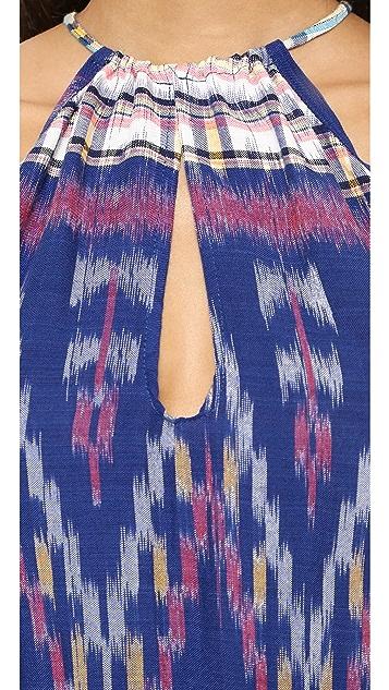 Indah Canoa Cut Away Smock Mini Dress