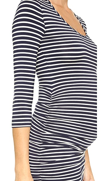Ingrid & Isabel Striped Maternity Dress
