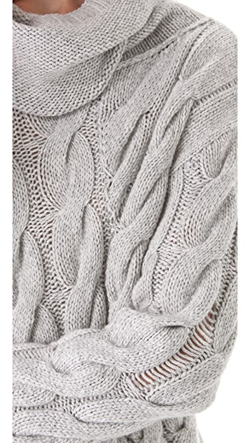 Inhabit Twisted Cable Turtleneck Sweater