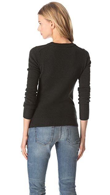 Inhabit V Neck Cashmere Sweater