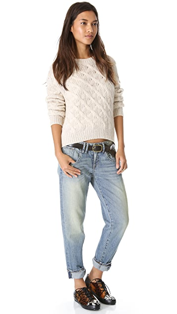 Inhabit Cashmere Chainette Sweater