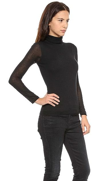 Inhabit Double Turtleneck Cotton Sweater