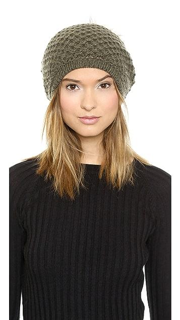 a940734f3 Slouchy Fur Pom Pom Hat