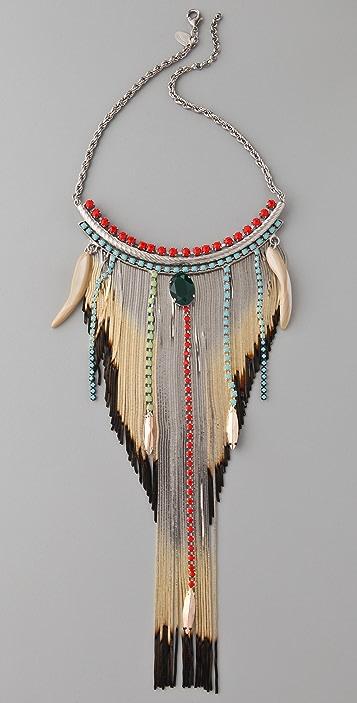 Iosselliani Shaded Fringe Shell Necklace