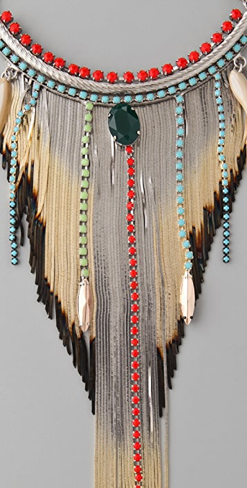 Iosselliani Shaded Fringe Shell Necklace