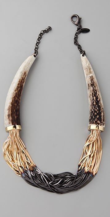 Iosselliani Shaded Fringe Deer Horn Necklace