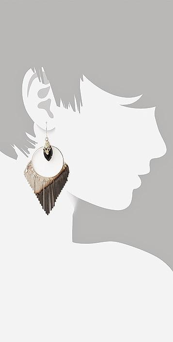 Iosselliani Two Tone Crystal Earrings