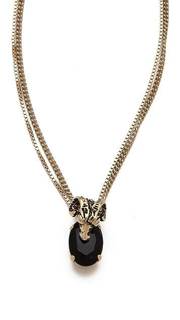 Iosselliani Gold Charm Necklace