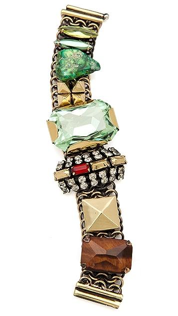 Iosselliani Chain Bracelet with Stones