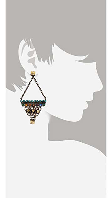 Iosselliani Triangle Chain Earrings
