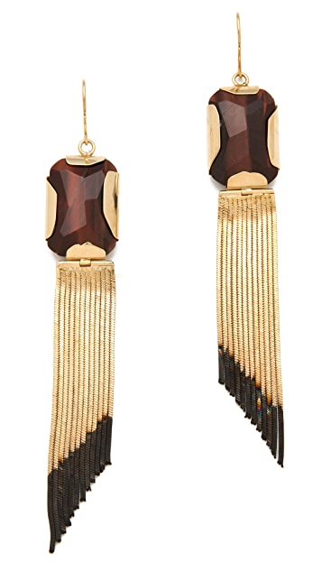 Iosselliani Tiger's Eye Earrings