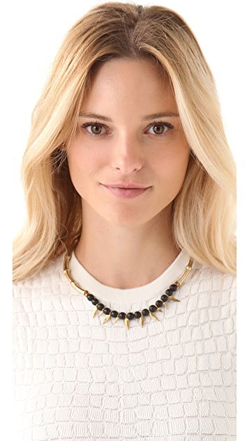 Iosselliani Choker Necklace with Black Agate