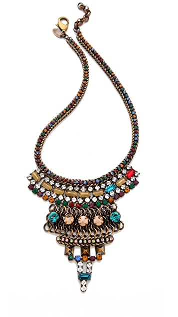 Iosselliani Rhinestone Bib Necklace