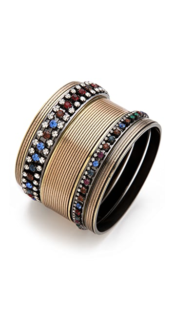 Iosselliani Set of 5 Rhinestone Bangles