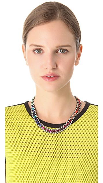 Iosselliani Multicolor Rhinestone Collar