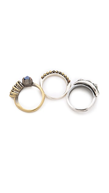 Iosselliani Fused Stone Ring Set