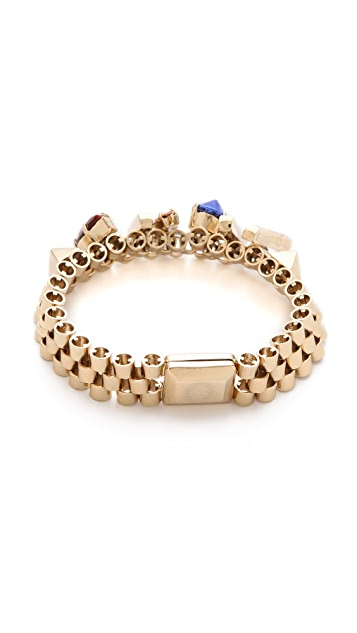 Iosselliani Brass Bracelet with Studs