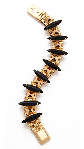 Iosselliani Brass & Rhinestone Bracelet