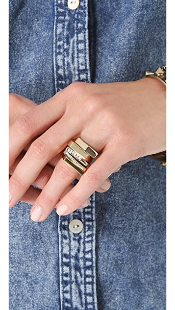 Iosselliani Brass Graphic Ring