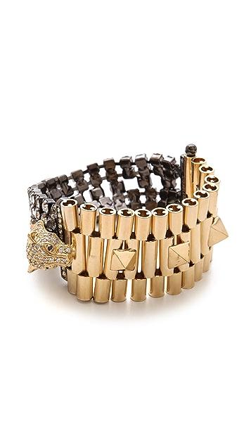 Iosselliani Brass Cheetah Bracelet
