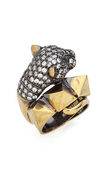 Iosselliani Cheetah Head Ring