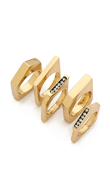 Iosselliani Graphic Stack Rings