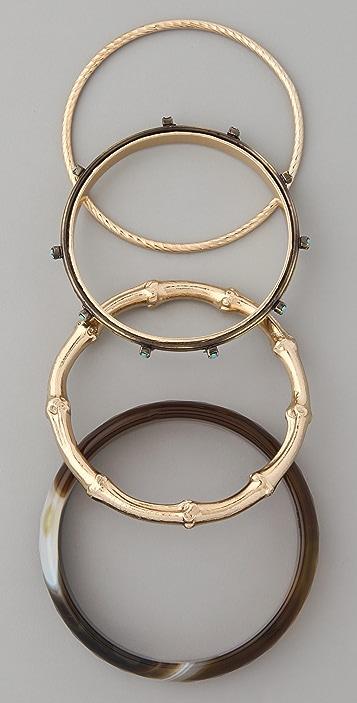 Iosselliani Cornelian & Turquoise Bangle Set