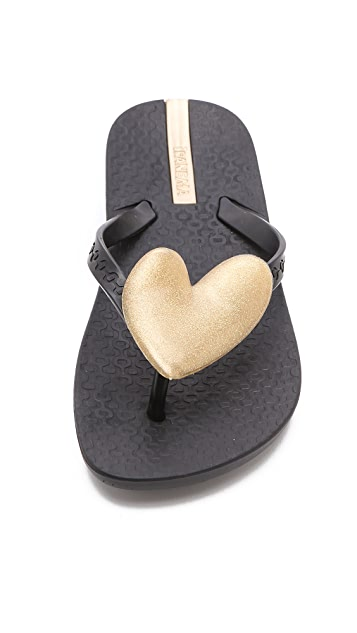 Ipanema Neo Love Heart Detail Flip Flops