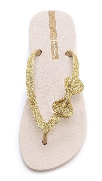 Ipanema Glitter Bow Flip Flops