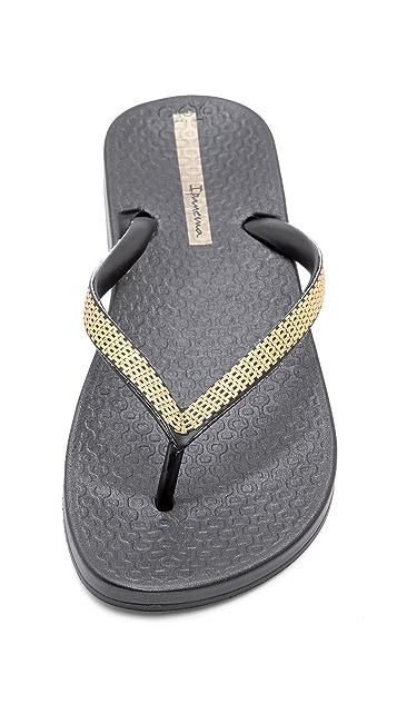 Ipanema Ana Metallic Flip Flops