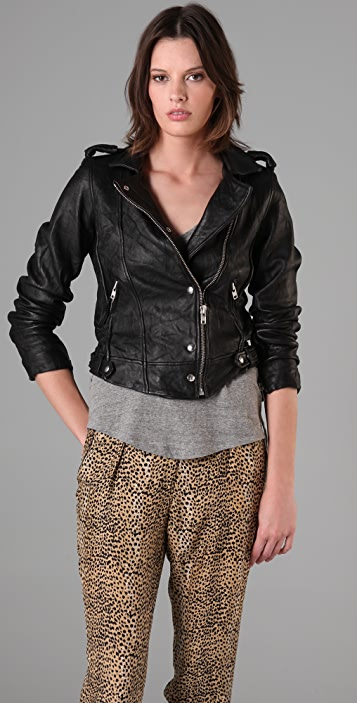 IRO Connie Leather Moto Jacket