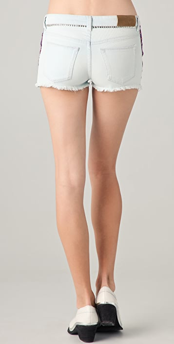 IRO Mesa Embroidered Denim Shorts