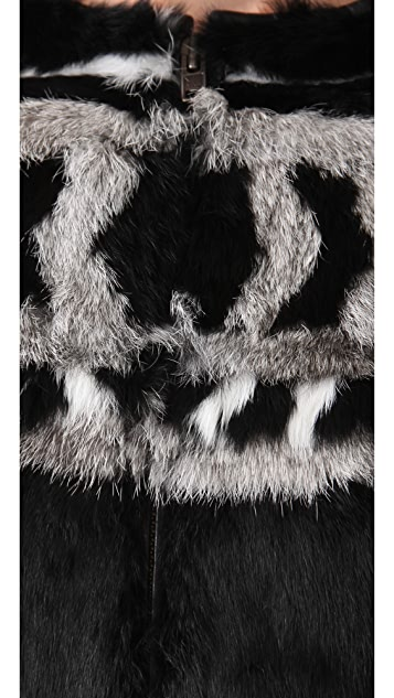 IRO Lorna Rabbit Fur Coat